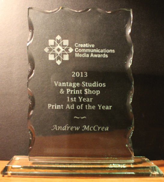 Andrew McCrea's Creative Communications Media Award for Ye Olde Chip Truck in Kenora