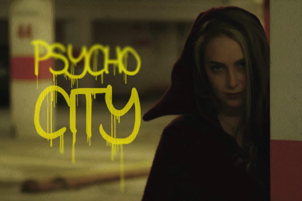 Promotional image for Psycho City, featuring Stephanie Thiessen. Taken by Andrew McCrea.